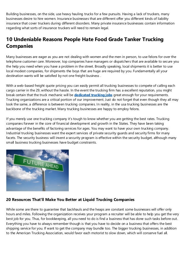 9 Signs You Sell Flatbed Trucking Companies Near Me For A Living