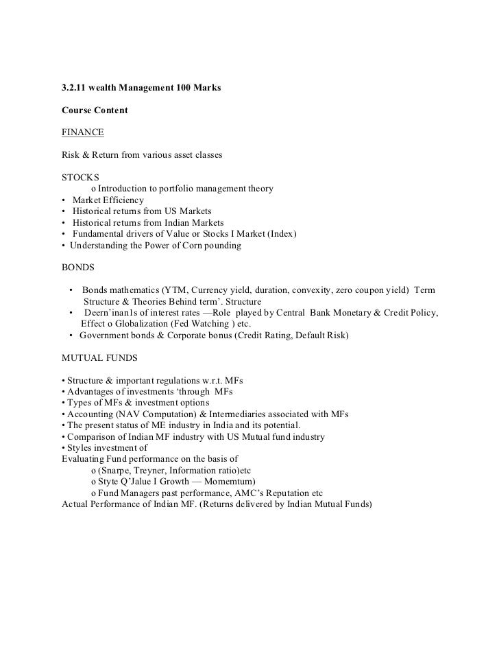 29268125 mms syllabus capital management 58 3211 wealth fandeluxe Image collections