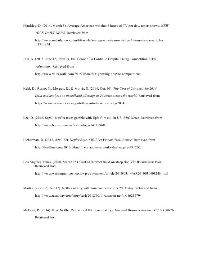 netflix inc case study Netflix inc, (a): the 2011 rebranding price increase debacle case solution the five major shareholders of the company from the institutions are vanguard group inc, fmr llc, tiger global management llc, price t rowe associate's inc, and capital research global investors (netflix, 2016.