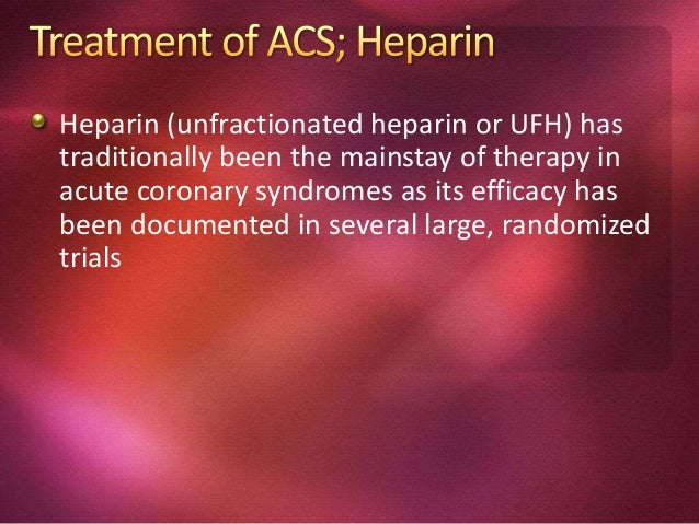 ACE-I should be administered to all patients in the first 24 hours of ACS provided hypotension and other clear cut contrai...