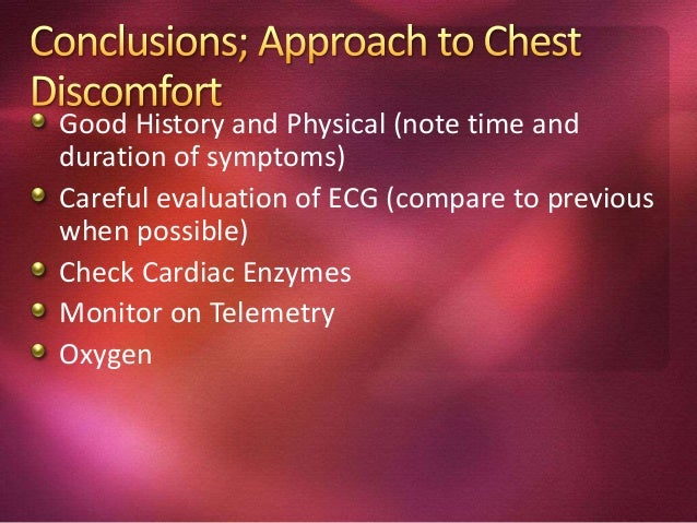 1. Evidence of myocardial necrosis: cardiac biomarker values (preferably cardiac troponin [cTn]) and with at least one of ...