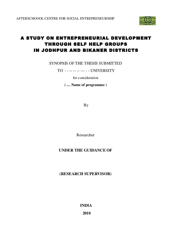 how to write synopsis for phd
