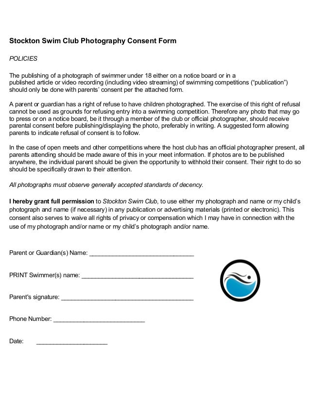 Photograph consent for Photography permission form template