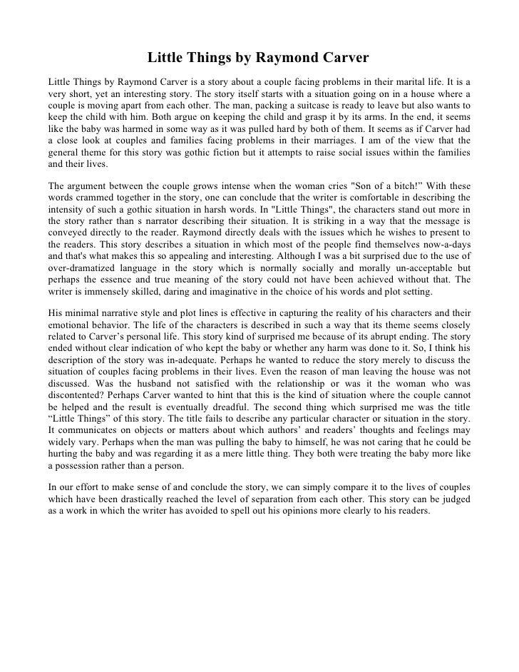 raymond carver essay on writing