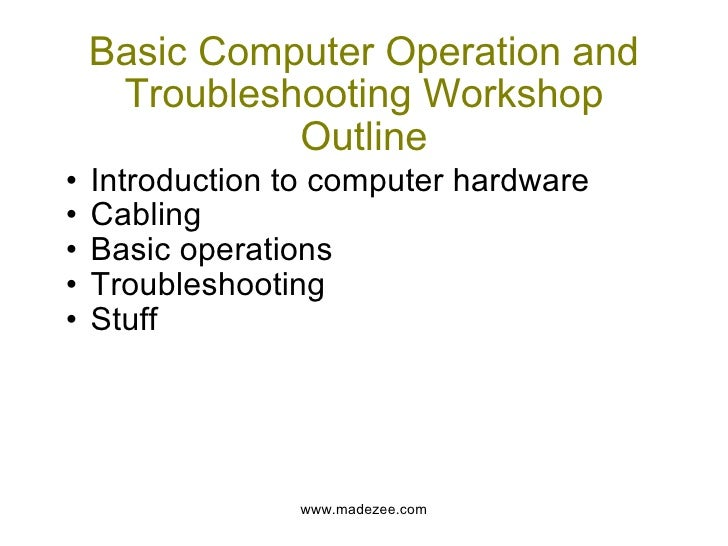 computer and basic operations Standard 1 | basic computer/technology operations and concepts the  competent teacher will use computer systems to run software to access,  generate, and.