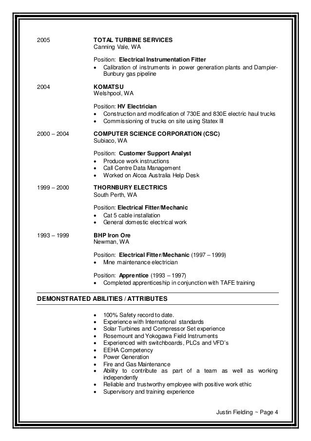 fielding justin cv current feb 2015