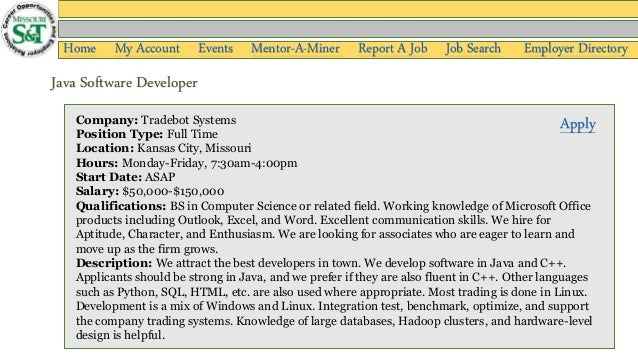 Tradebot systems salary