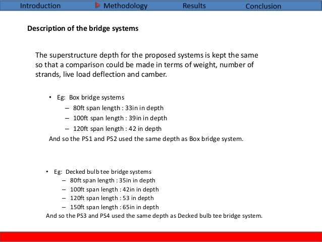 Project 1- Masters thesis - Bridge systems