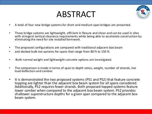 Master thesis bridges