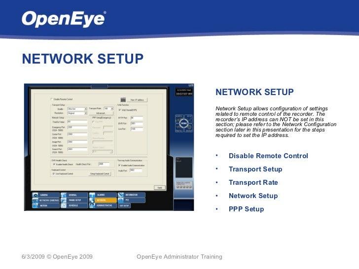 NETWORK SETUP                                                     NETWORK SETUP                                           ...