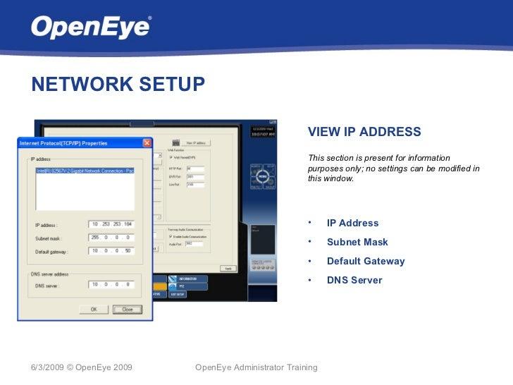 NETWORK SETUP                                                     VIEW IP ADDRESS                                         ...