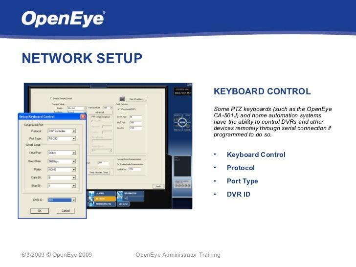 NETWORK SETUP                                                     KEYBOARD CONTROL                                        ...