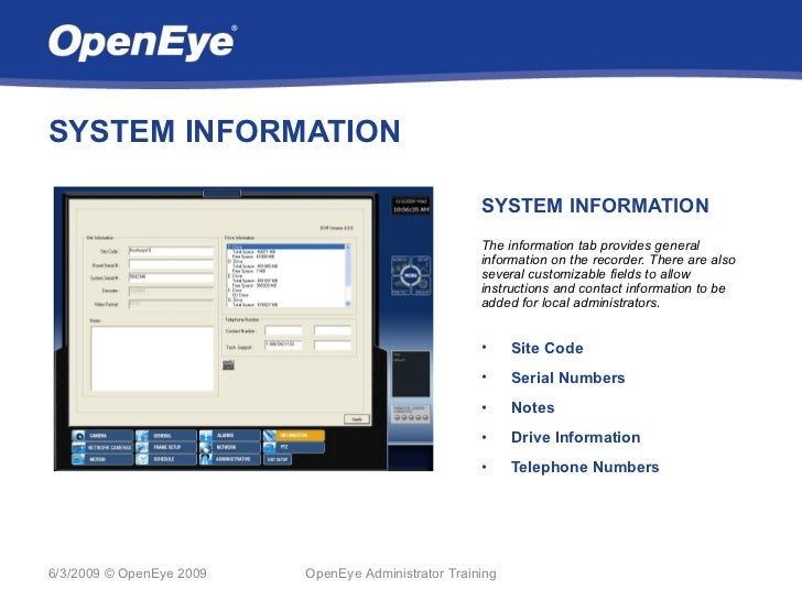 SYSTEM INFORMATION                                                     SYSTEM INFORMATION                                 ...