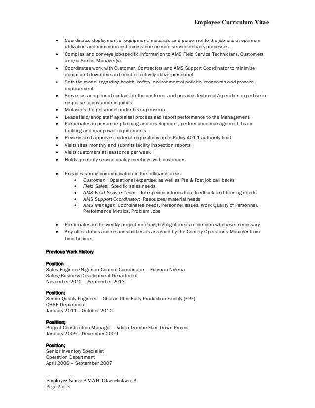 Okwy Amah_Exterran CV format Revised by April 2015 Slide 2