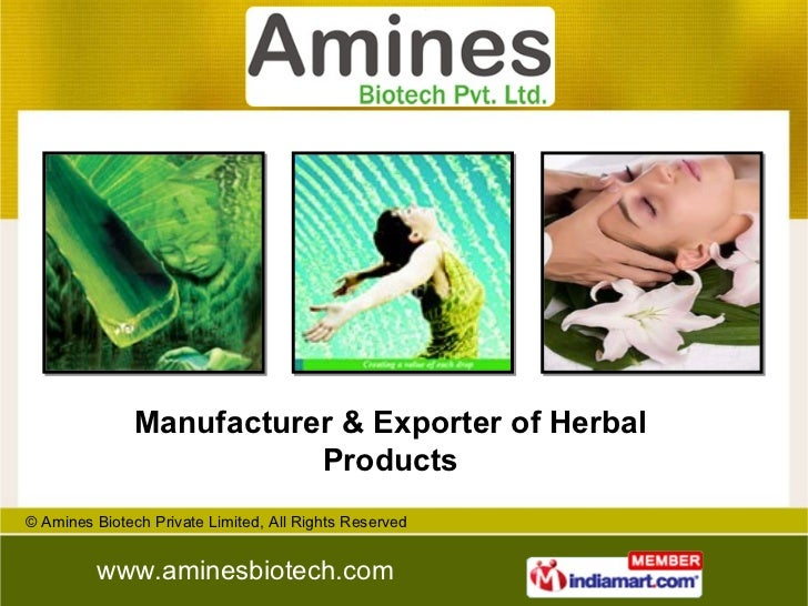 Manufacturer & Exporter of Herbal Products
