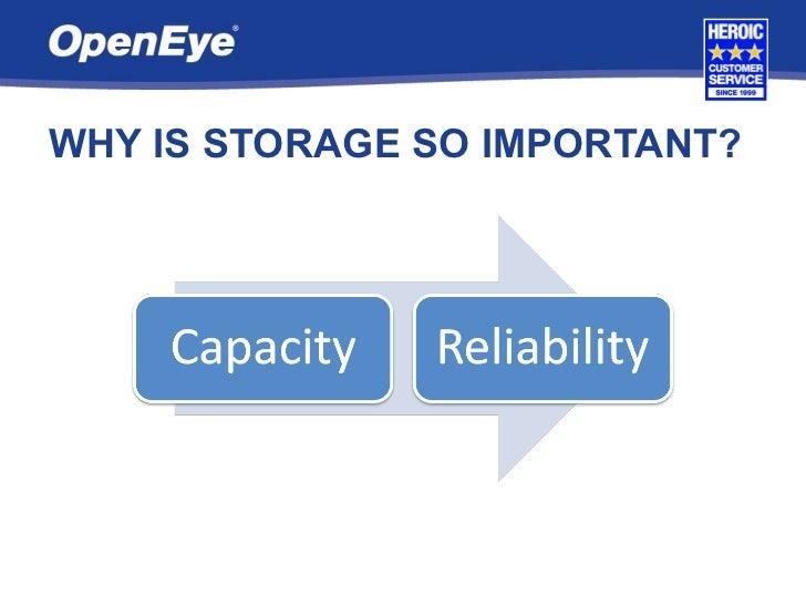 OpenEye Storage Solutions Slide 3
