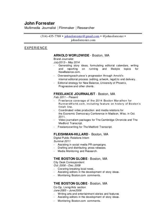 John Forrester Resume