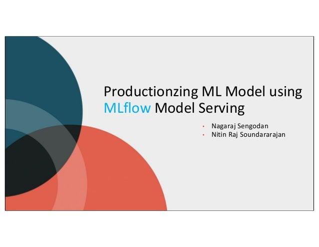 Productionzing ML Model using MLflow Model Serving • Nagaraj Sengodan • Nitin Raj Soundararajan