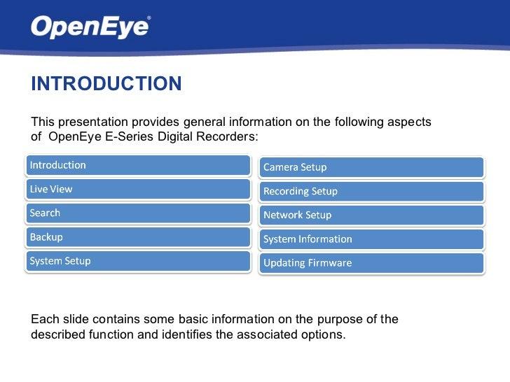 OpenEye Embedded Training Slide 2
