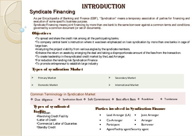 Syndication Finance 06 08 15
