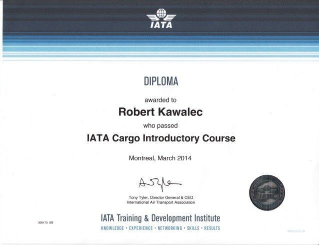 how to be come a iata cargo agent