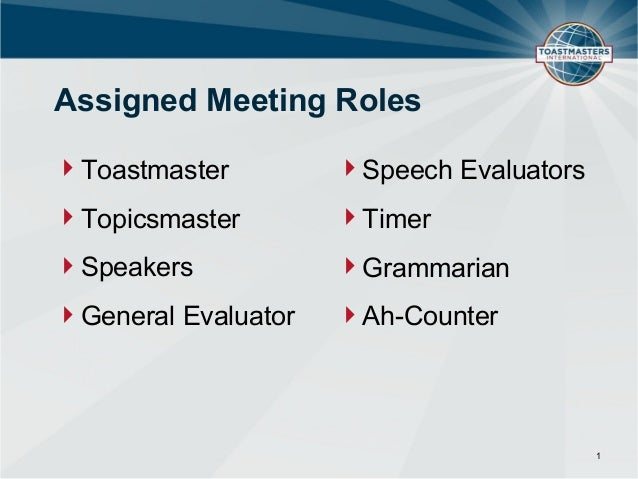 meeting roles and responsibilities  powerpoint