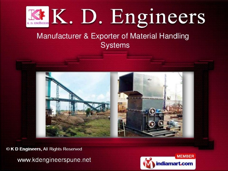 Manufacturer & Exporter of Material Handling                 Systems