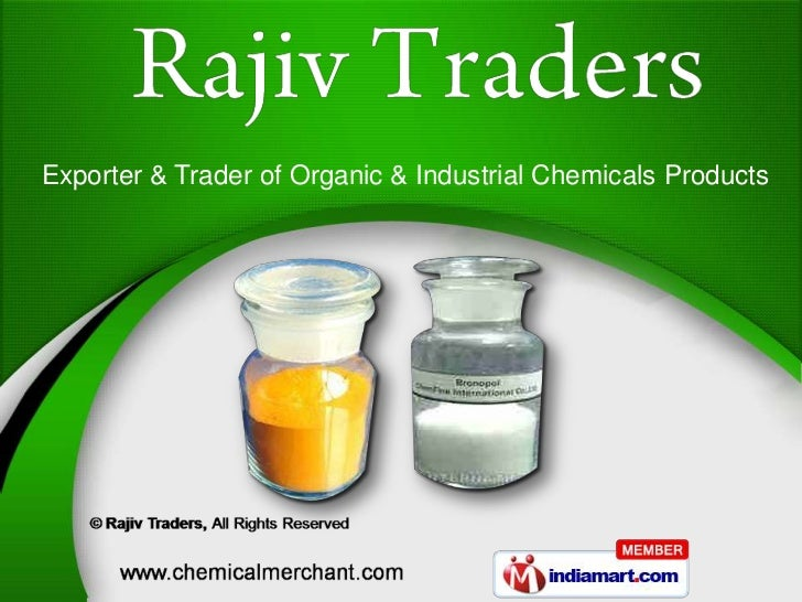 Exporter & Trader of Organic & Industrial Chemicals Products
