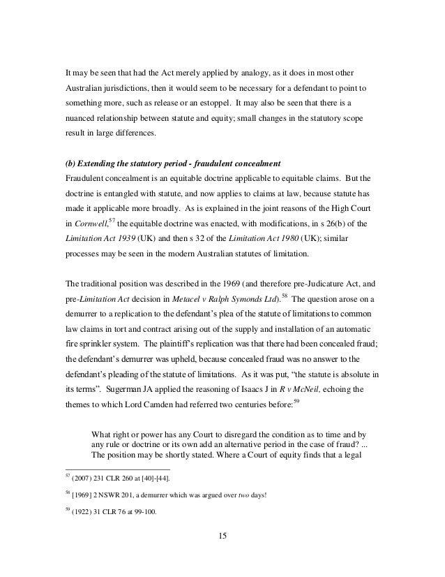 Equitable estoppel essay