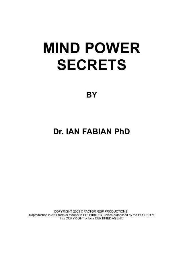 Mind Power Secrets!