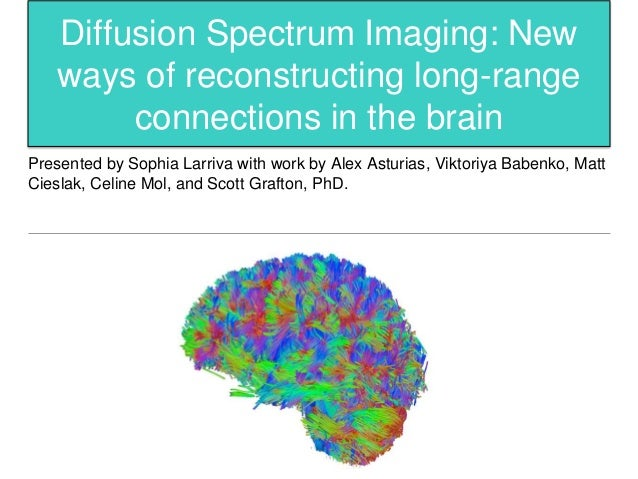 Diffusion Spectrum Imaging: New ways of reconstructing long-range connections in the brain Presented by Sophia Larriva wit...