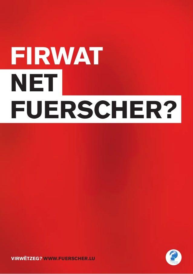 FIRWAT net fuerscher? virwëtzeg? www.fuerscher.lu