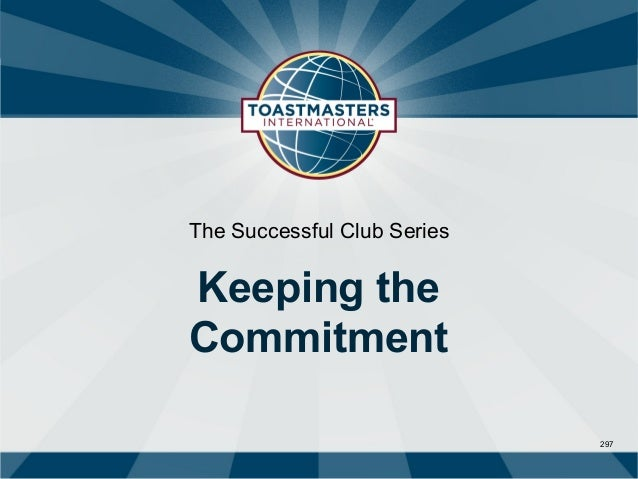 The Successful Club SeriesKeeping theCommitment                             297