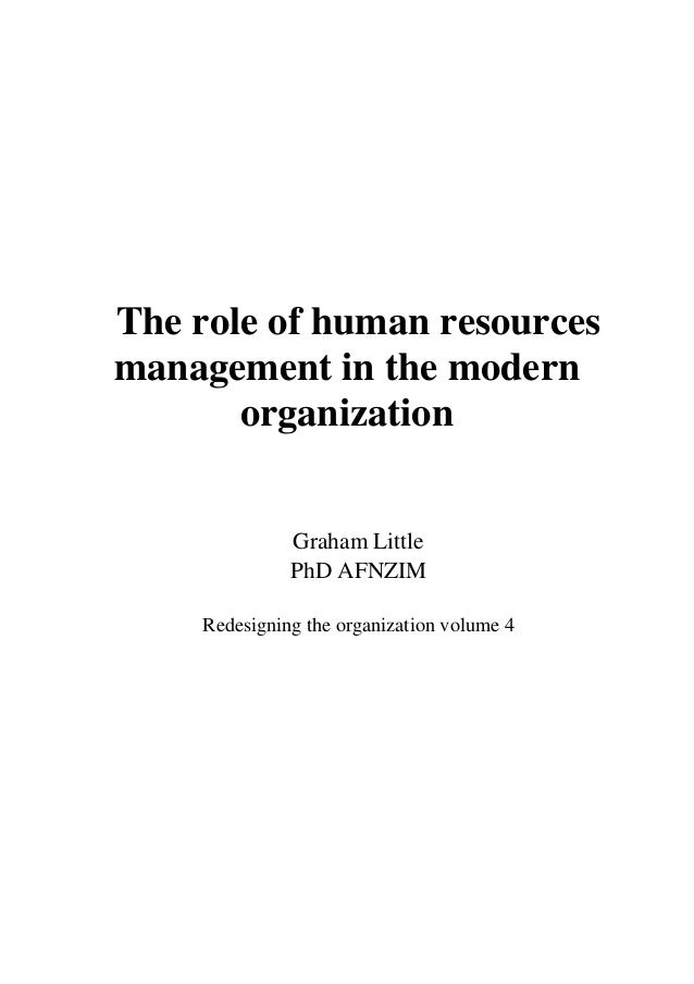 the of human resources in the modern organisation wheelers pdf