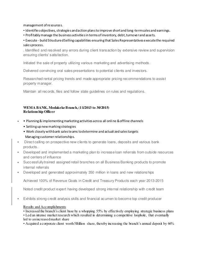 managementof resources. • Identifiesobjectives,strategiesandactionplanstoimprove shortandlong-termsalesandearnings. • Prof...