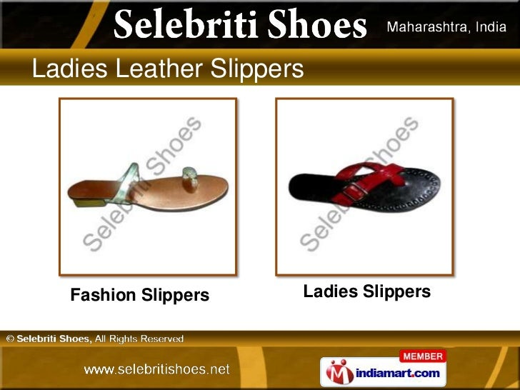 aa0e9317a Ladies Leather Slippers Fashion Slippers Ladies Slippers ...