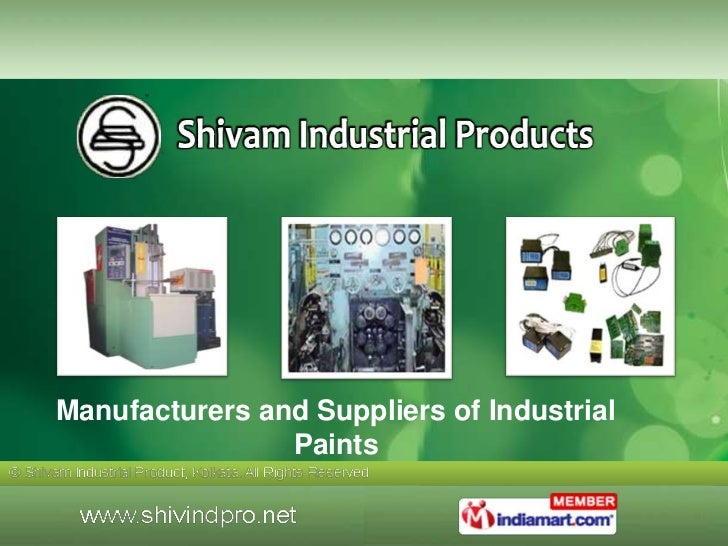 Manufacturers and Suppliers of Industrial                Paints