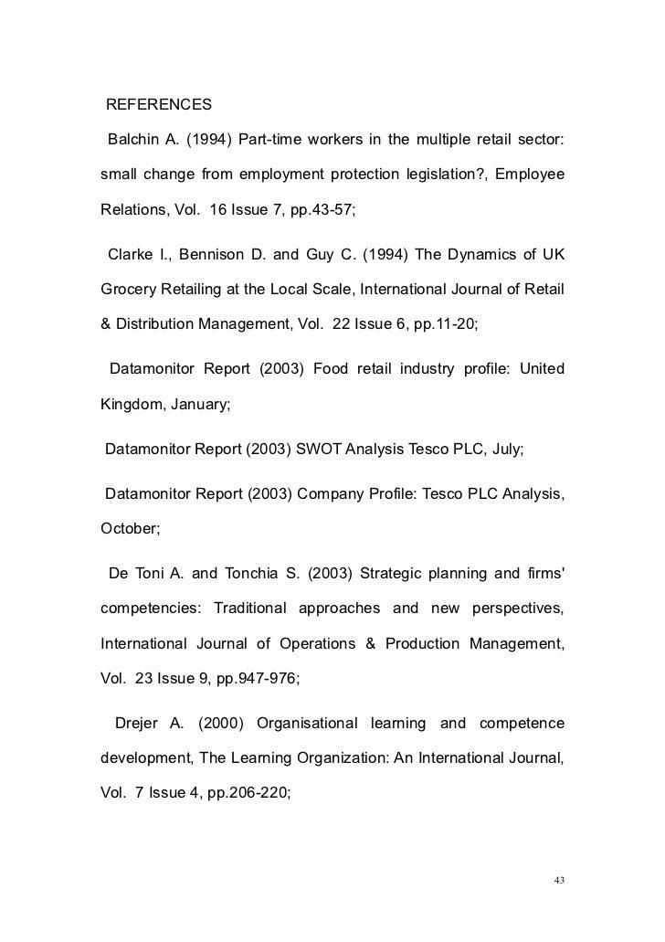 29932770 Strategic Management Of Tesco Supermarket