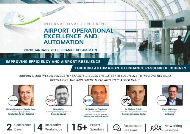 AIRPORTS, AIRLINES AND INDUSTRY EXPERTS DISCUSS THE LATEST AI SOLUTIONS TO IMPROVE NETWORK OPERATIONS AND IMPLEMENT THEM W...
