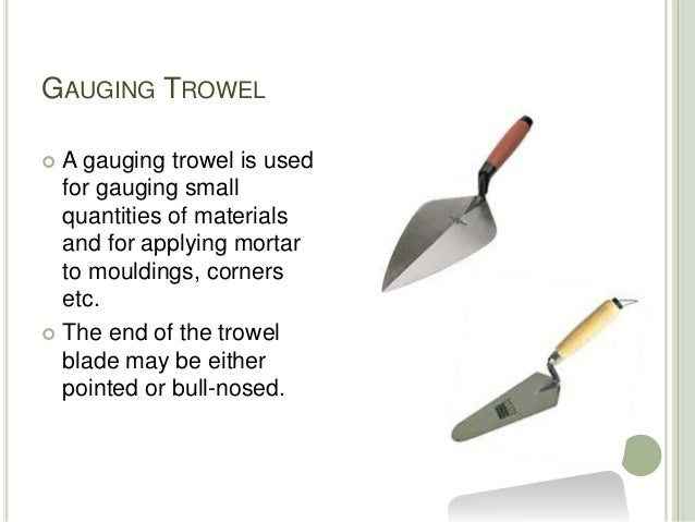 Tools used for Plastering Slide 3