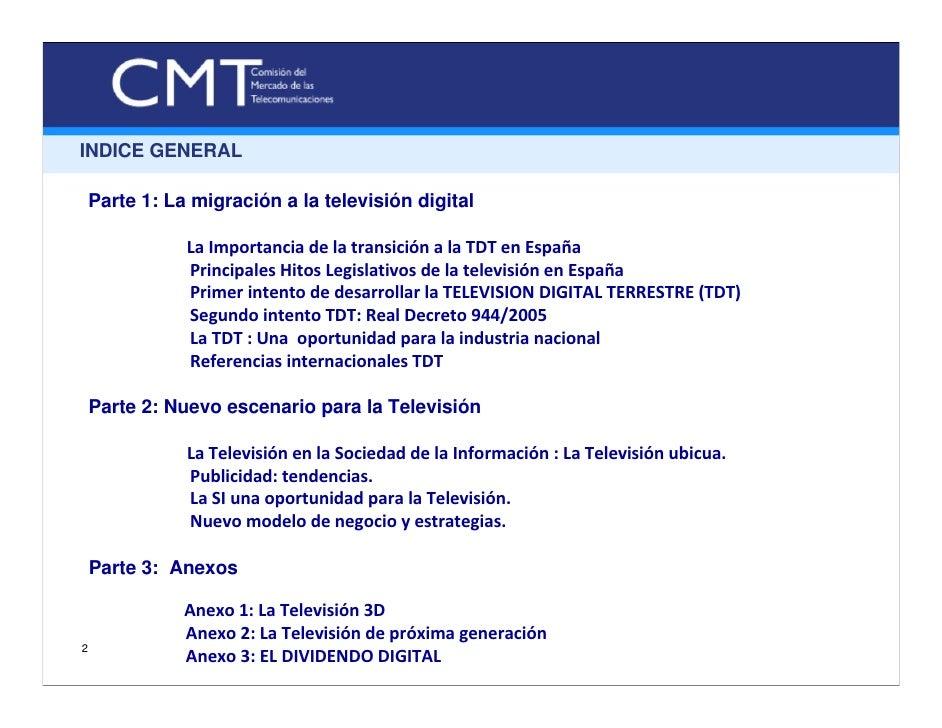 Expo Canitec 2010, La transición a la TDT: experiencias y retos Slide 2