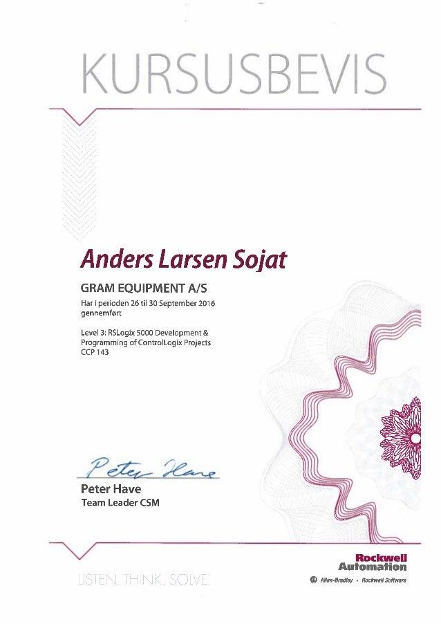 Level 3 RSLogix 5000 development & Programming of ControlLogix Projects CCP 143