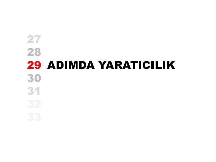 272829 ADIMDA YARATICILIK30313233