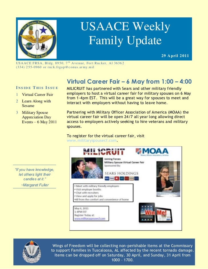 USAACE Weekly                                                  Family Update                                              ...
