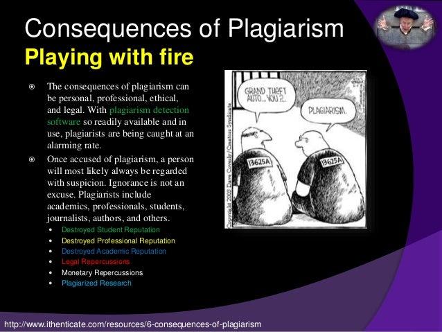 Consequences plagiarism dissertation