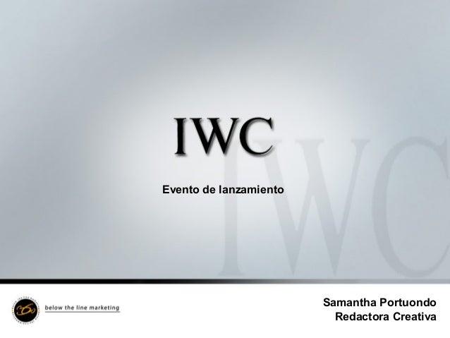 Evento de lanzamiento Samantha Portuondo Redactora Creativa
