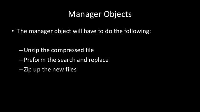 Python: Manager Objects