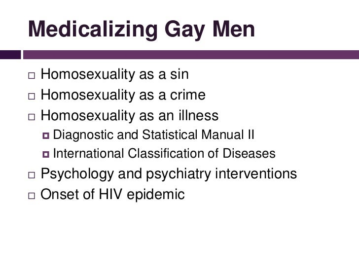 Medicalisation of homosexuality
