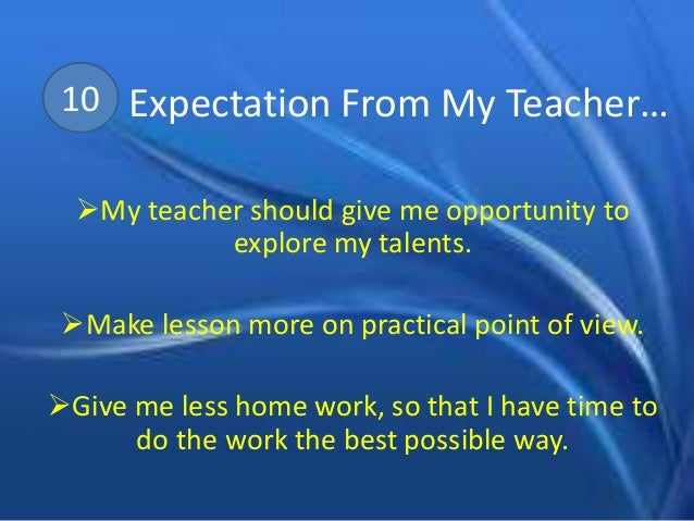 essay on high school expectations In education, the term high expectations, or the phrase common high expectations, typically refers to any effort to set the same high educational standards for all students in a class.