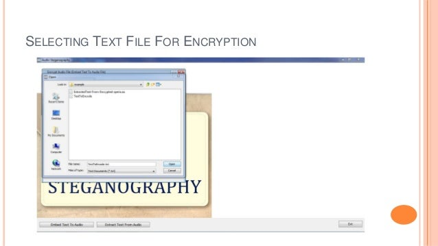 SELECTING TEXT FILE FOR ENCRYPTION